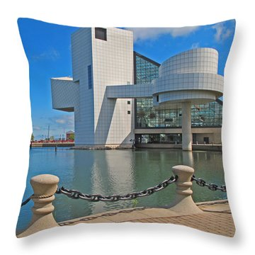 Rock And Roll Hall Of Fame Throw Pillow by Dave Mills