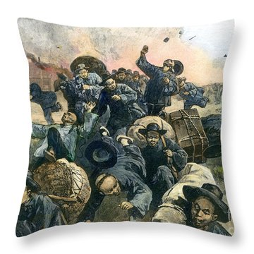 Rock Springs Massacre Throw Pillow by Granger