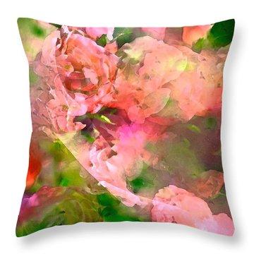Rose 142 Throw Pillow by Pamela Cooper