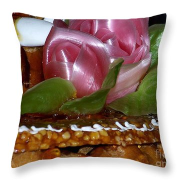 Cake Throw Pillow by Sylvie Leandre