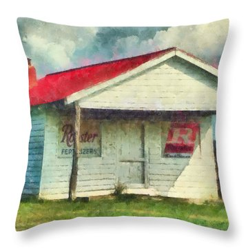 Royster Fertilizers  Throw Pillow by Lynne Jenkins