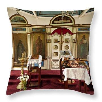 Russian Orthodox Church Throw Pillow by John Greim