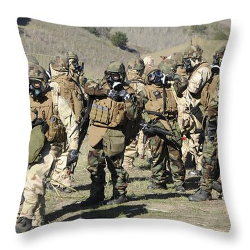 Sailors Dressed In Full Mission Throw Pillow by Stocktrek Images