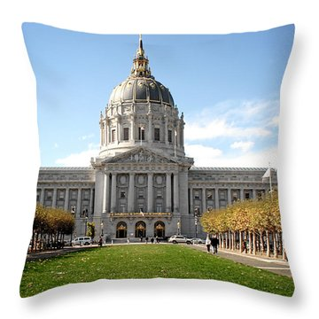 San Francisco City Hall - Beaux Arts At Its Best Throw Pillow by Christine Till