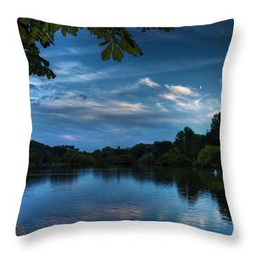 Scarborough Mere Throw Pillow by Svetlana Sewell