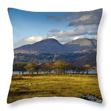 Scottish Landscape View Throw Pillow