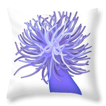 Sea Anemone Throw Pillow by Michal Boubin