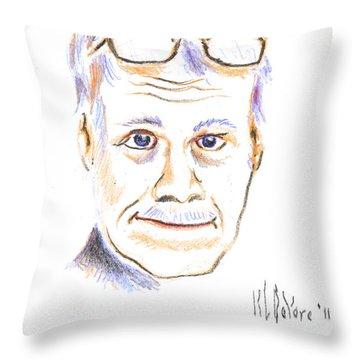Self-portrait Throw Pillow by Kip DeVore