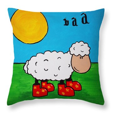 Sheep Throw Pillow by Sheep McTavish