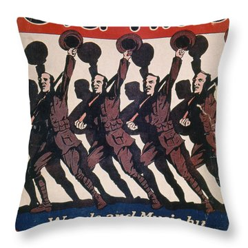 Sheet Music Cover, 1917 Throw Pillow by Granger