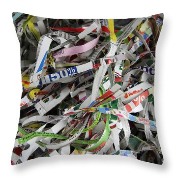 Shredded Paper Throw Pillow by Photo Researchers, Inc.