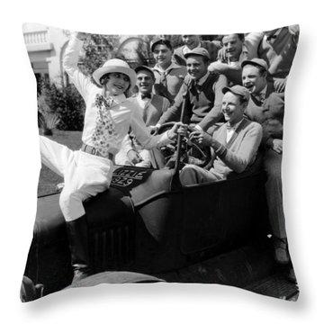 Silent Still: College Throw Pillow by Granger