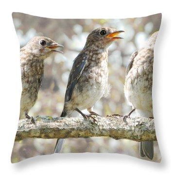 Sing Sing Sing Throw Pillow by Amy Tyler