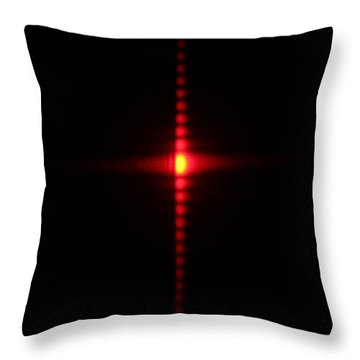 Single Slit Diffraction Throw Pillow by Ted Kinsman