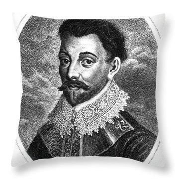 Sir Francis Drake, English Explorer Throw Pillow by Photo Researchers