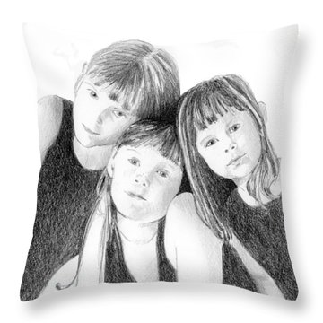Sisters Throw Pillow by Arline Wagner