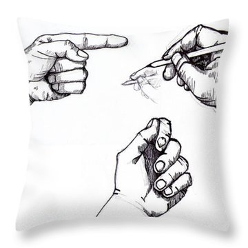 Sketchbook Throw Pillow