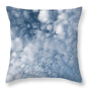 Throw Pillow featuring the photograph Sky Fluff by Lenny Carter