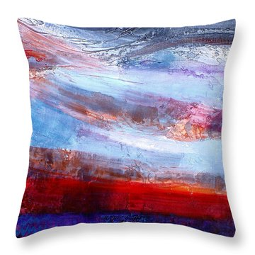 Throw Pillow featuring the mixed media Sunset Sky by Walter Fahmy