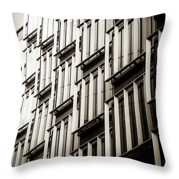 Slatted Window Architecture Throw Pillow by Lenny Carter