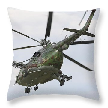 Slovak Air Force Mi-17 Hip In Digital Throw Pillow