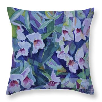 Snap Dragons Throw Pillow by Jan Bennicoff