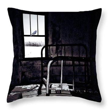 Song Bird Throw Pillow by Jerry Cordeiro