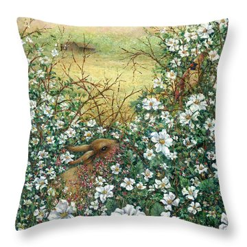 Soon There'll Be Berries Throw Pillow