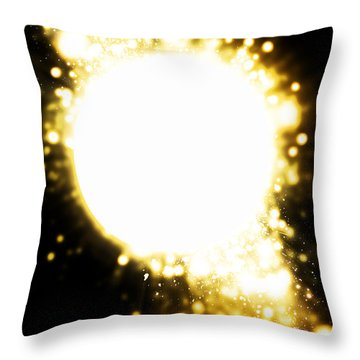 Sphere Lighting Throw Pillow by Setsiri Silapasuwanchai