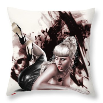 Spider Webs Throw Pillow by Pete Tapang