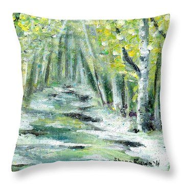 Throw Pillow featuring the painting Spring by Shana Rowe Jackson