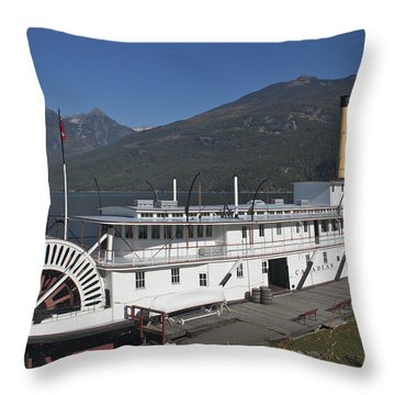 Throw Pillow featuring the photograph Ss Moyie by Cathie Douglas