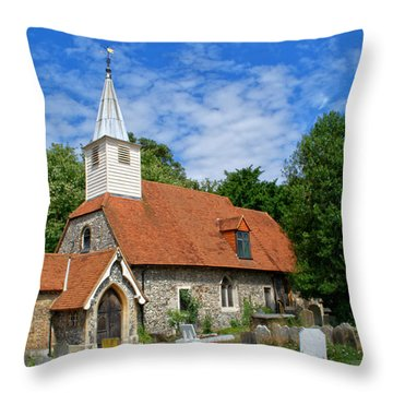 St Laurence Church Cowley Middlesex Throw Pillow