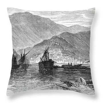 St. Thomas: Hurricane, 1867 Throw Pillow by Granger