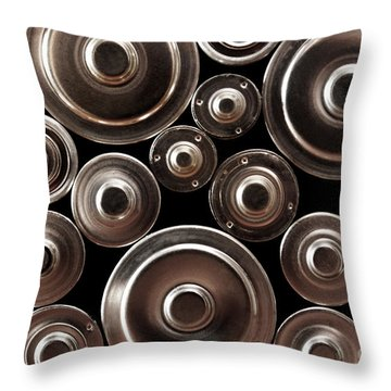 Stack Of Batteries Throw Pillow by Carlos Caetano