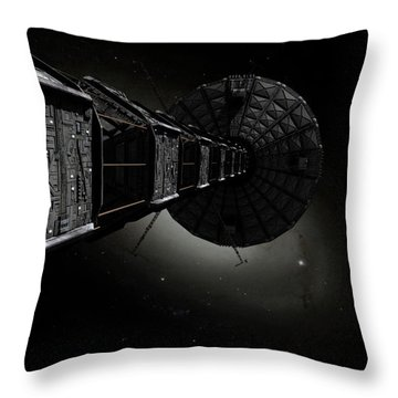 Starship Inspired By The Novels Throw Pillow by Rhys Taylor