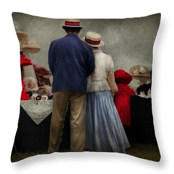 Store - The Hat Stand  Throw Pillow by Mike Savad