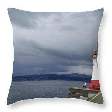 Throw Pillow featuring the photograph Stormwatch by Marilyn Wilson