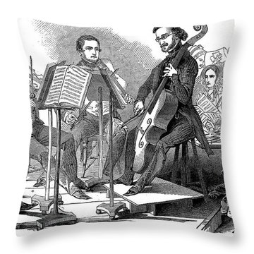 String Quartet, 1846 Throw Pillow by Granger