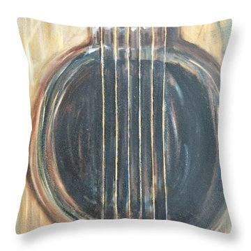 Strings Acoustic Sound Throw Pillow
