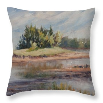 Summer Days Are Numbered Throw Pillow by Debbie Lamey-MacDonald