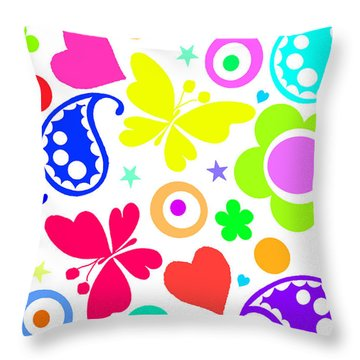 Summer Fun Throw Pillow by Louisa Knight