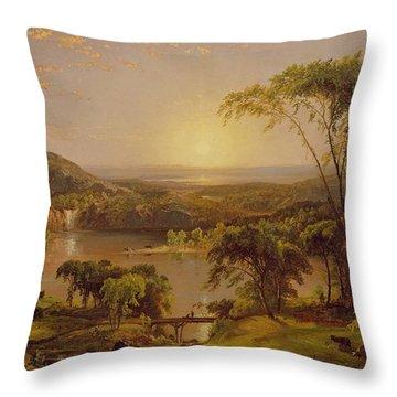 Summer Lake Ontario Throw Pillow by Jasper Francis Cropsey