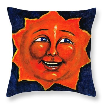 Throw Pillow featuring the painting Sun by Sarah Farren