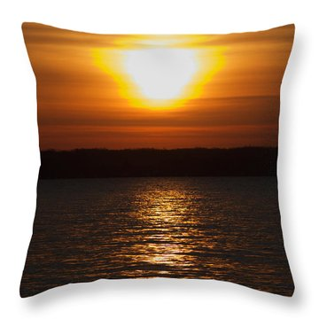 Throw Pillow featuring the photograph Sunrise On Seneca Lake by William Norton