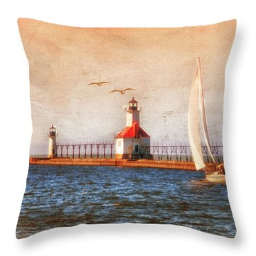 Throw Pillow featuring the photograph Sunset Aglow by Mary Timman