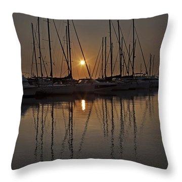Sunset Throw Pillow by Joana Kruse