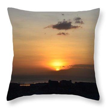 Sunset Upon The Ocean  Throw Pillow