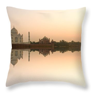 Throw Pillow featuring the photograph Taj Mahal  by Luciano Mortula