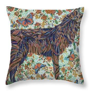 Tamed Throw Pillow by Erika Pochybova